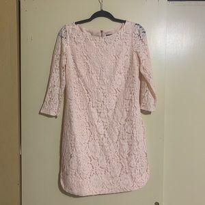 💎🎁 LIKE NEW Blush pink Vince Camuto lace dress